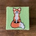 Cute Wall Art | Handknit! | Happy Fox