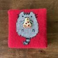 Cute Wall Art | Handknit! | Hungry kitty