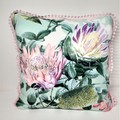 Australian Natives (mint) Cushion Cover