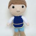 Prince boy doll crochet amigurumi style