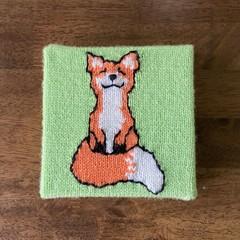 Cute Wall Art | Handknit! | Smiling Fox | Santa gift kids present