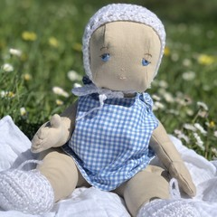 Vintage style Baby doll,  made from recycled materials