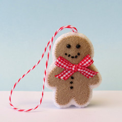 Gingerbread Man, Felt Christmas, Christmas Ornament, Christmas Decoration