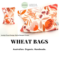 KIKIME Wheat Bags - Design: Native Bouquet Cream