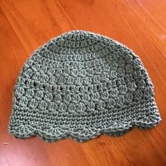Soft Green Crocheted Baby Hat