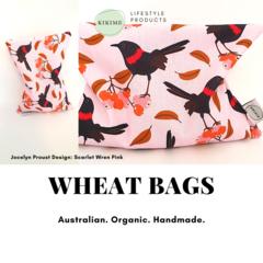 KIKIME Wheat Bags - Design: Scarlet Wren Pink