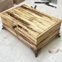 Jewellery | Valet | Keepsake | Wood Box In Norfolk Island Hibiscus