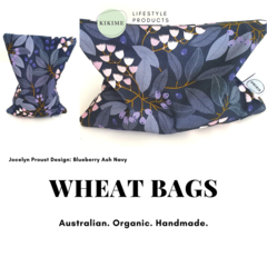KIKIME Wheat Bags - Design: Blueberry Ash Navy