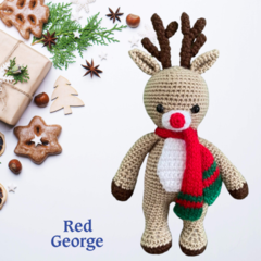 Rudy the Red George Reindeer- from the Red George Cuddle Crew