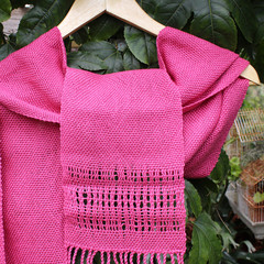 Pink Cotton Handwoven Scarf