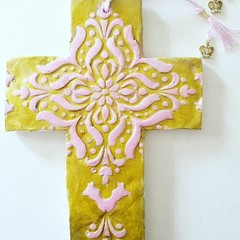 Wall Art - In The Pink Cross