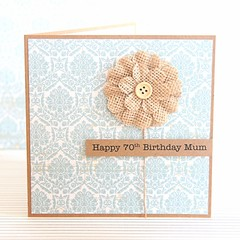 Personalised Birthday Card, Custom Made Handmade Card For Her, For Mum