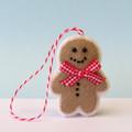 Gingerbread Man, Felt Christmas, Christmas Ornament, Christmas Decoration