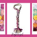 Rapunzel  Inspired Yarn Wig-Wooden Flower Buttons