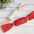 Fabric Christmas Crackers, Reusable bonbons, Christmas Table decorations