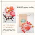 KIKIME Aroma Sachets - Design: Scarlet Wren Pink