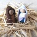 Nativity Set Peg Dolls Joseph, Mary, baby Jesus