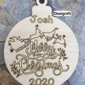 Christmas Baubles. Personalised & engraved each side.