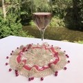 Lots of Pink Doily or Bowl / Jug Cover