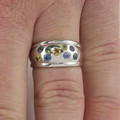 9ct Solid White Gold Natural Australian Sapphire Ring