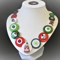 Christmas necklace - Mrs Claus