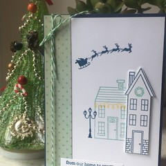 Christmas Handmade Card - From our home to yours
