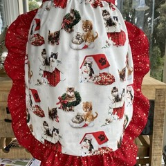 Christmas Frilly Apron