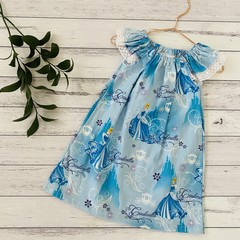 Seaside Ruffle Dress, Size 1 2 and 3, Flutter Sleeve Dress, Cinderella, Princess