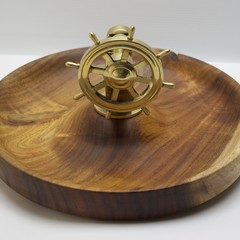 Handmade Brass Ships Wheel Nutcracker Bowl