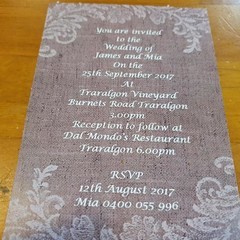 RUSTIC LACE WEDDING INVITATION  (Print @ Home)