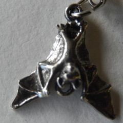 Flying fox, Bat flying mammal Chiroptera dble sided Aussie made Pewter earrings