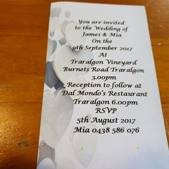 SILVER HEARTS WEDDING INVITATION  (Print @ Home)