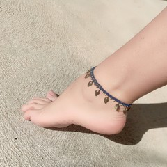 Boho anklet, blue anklet, gypsy anklet