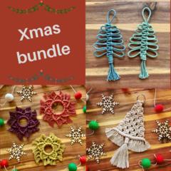 Christmas bundle set of 3 macrame decorations