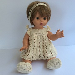 Outfit for Baby Doll - Dress, Pants, Shoes and Headband