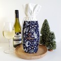 Wine Bottle Gift Bag | Christmas Be Jolly | Zero Waste Gift | Free Shipping