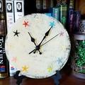 Beach Time - resin starfish clock