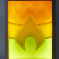Aquaman Belt 3D Emblem Wax Painting Light Box