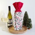Wine Bottle Gift Bag | Christmas Kangaroos | Zero Waste Gift | Free Shipping
