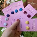 Fabric dotty studs