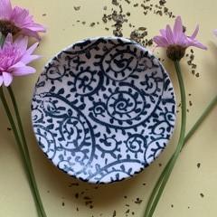 Beautiful Blue Paisley Porcelain Bowl