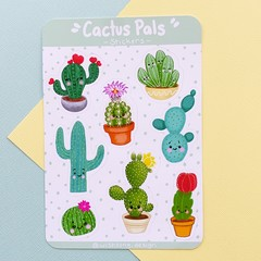 Cactus plants sticker sheet, cute stickers, planner stickers, scrapbooking