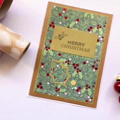 Card - Green Mistletoe
