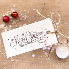 Mini decorative gift tags - Red Spots