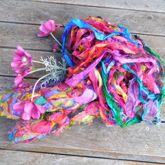 ~*~*~  Recycled Silk Ribbon 100g Skein ~*~*~