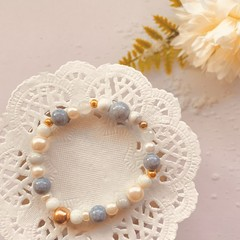 Small Bracelet - Blue and Gold