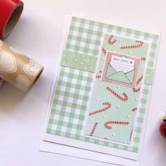 Card - Green Candycane