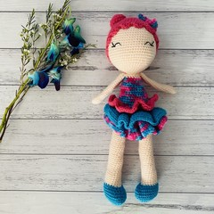 Crochet Doll, Hand Knitted Softie, preorder