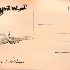 Postcard themed christmas  greeting card