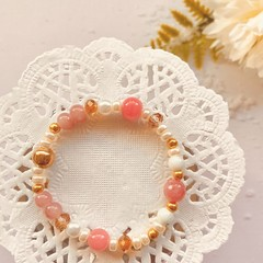 Small Bracelet - Pink and Gold